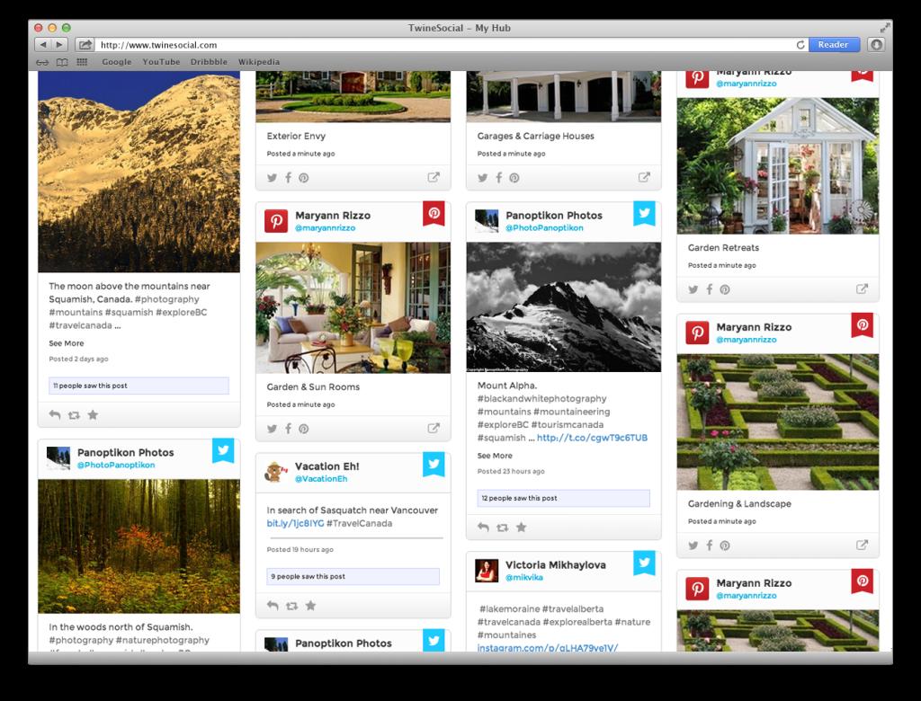 New Social Media Hub Design