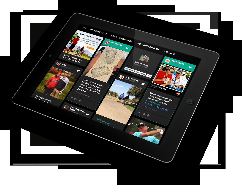 Social Media Hub on iPad